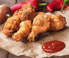 Air Fryer Fried Chicken - Fork To Spoon Shake And Bake Pork, Homemade Shake And Bake, Shake N Bake Chicken, Honey Garlic Wings, Honey Bbq Chicken Wings, Chicken Drumsticks, Chicken Nuggets, My Recipes, Cooking Recipes