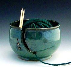 Yarn Bowl / Yarn Holder / Knitting Bowl/ by GracePottery on Etsy, $28.00