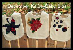 Holiday baby bib by KaGeyWonderworks on Etsy