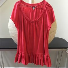 Pink ruffle tunic Gorgeous hot pink tunic tank with a drop waist. In perfect condition with no rips or stains. This piece would look fab with crops or leggings. Length is 27 inches and armpit to armpit measures 19 inches across. Thanks for looking. Anthropologie Tops Tunics