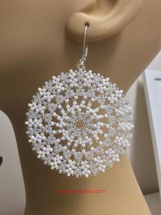 Jewelry OFF! Seed Beaded Earrings Name: Chill Out Mandala Earrings Diy Jewelry Rings, Diy Jewelry Unique, Diy Jewelry To Sell, Trendy Jewelry, Diy Jewelry Making, Handcrafted Jewelry, High Jewelry, Fashion Jewelry, Modern Jewelry