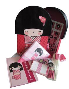 Kokeshi birthday party kit