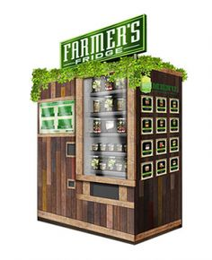 Here's a great idea! A vending machine that is filled each morning with fresh fruits, veggies, salads, etc.   Check out www.farmersfridge.com