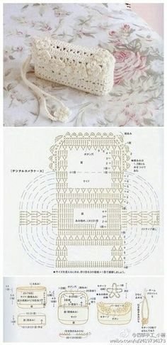donneinpink magazine: Borse e pochette fai da te 8 schemi crochet gratis