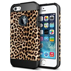 Top Features! Snazzy Leopard Print iPhone 5S/5 Shockproof, Slim-Fit Case
