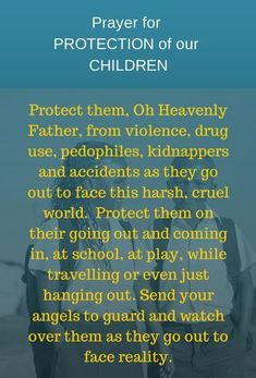 Protection Prayer For Our Children