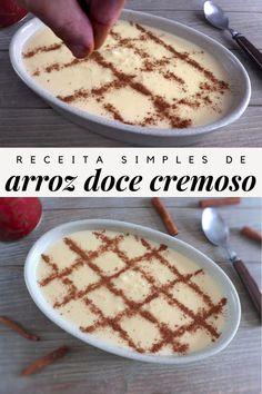 Portuguese Desserts, Portuguese Recipes, Portuguese Rice, Kozy Shack Rice Pudding, Creamy Rice Pudding, My Dessert, Dessert Recipes, Healthy Food Options, Mets
