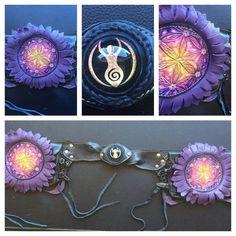 Divine Goddess leather utility belt S
