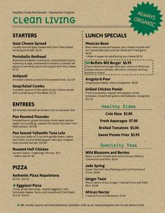 111 Best Healthy Restaurant Menu Sample Images Card Templates