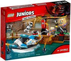 LEGO Ninjago 10755 Juniors Zane's Ninja Boat Pursuit for sale online Lego Ninjago, Lego Duplo, Chopper, Black Pearl Ship, Shop Lego, Lego Juniors, Lego Marvel's Avengers, Cool Lego Creations, Treasure Maps