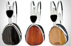 LSTN Wood Troubadour Headphones. For every pair sold, LSTN helps restore hearing to a person in need through the Starkey Hearing Foundation.