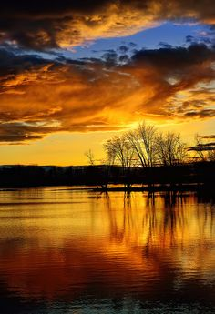 Petrie Island Sunset by Peter Polgar ~ Orleans, Ontario**