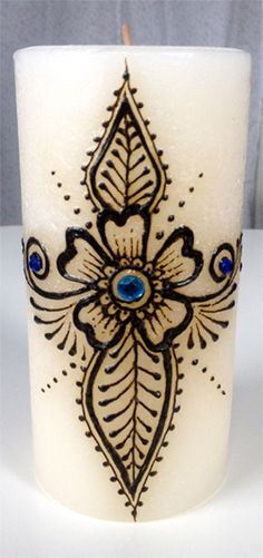 How do you use the henna, what is the consistency and how does it stick? Henna Doodle, Henna Pen, Unique Candles, Best Candles, Henna Candles, Candle Arrangements, Candle Art, Printable Designs, Henna Designs
