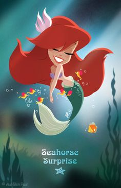 Seahorse Surprise by titeufffff in The Wonderful World of Disney Animation: The Little Mermaid, Alladin and Robin Hood