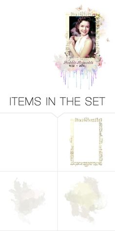 """""""... You are my lucky star, I saw you from afar..."""" by dancing-dreams ❤ liked on Polyvore featuring art, Pink, RIP, 2016 and debbiereynolds"""