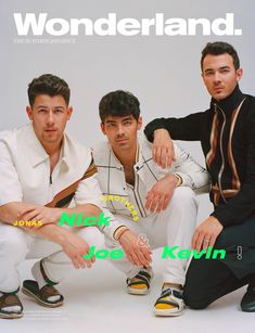 Nick, Joe and Kevin from the Jonas Brothers are fronting the cover of the Summer 2019 issue of Wonderland Magazine. Jonas Brothers, Kevin G, Fendi, Wonderland, Jersey Boys, Nick Jonas, Liam Payne, Famous Faces, Shawn Mendes