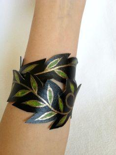 Infinity Bracelet Double Wrap Vine Cuff Faux by AshleyAnnBennett, $23.00