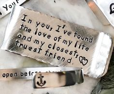 Love of My Life, Personalized Money Clip - add your own quote - Boyfriend Groom Husband Gift Secret Love Messages, Gifts For Fiance, Money Clip Wallet, Own Quotes, Fall Wedding, Dream Wedding, Wedding Ideas, Gift Wedding, Wedding Groom