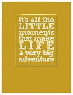 Little moments...big adventure
