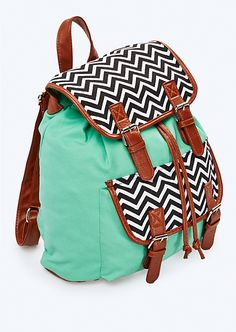 Light Green & Chevron Backpack | Backpacks | rue21
