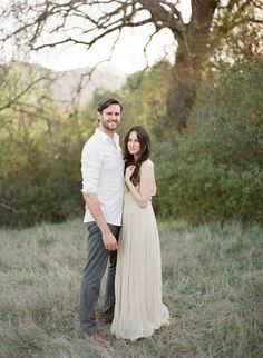 Natural Outdoor Anniversary Session via oncewed.com