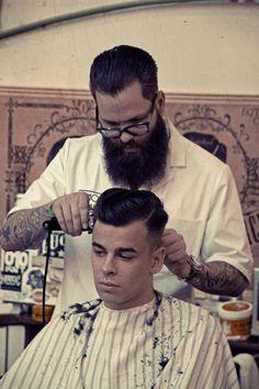 tattoo and beard
