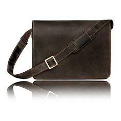 Harvard Leather Messenger Bag (2,330 MXN) ❤ liked on Polyvore featuring men's fashion, men's bags, men's messenger bags, mens leather messenger bag and mens brown leather messenger bag