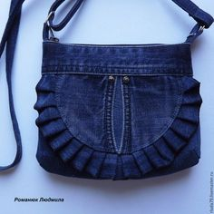 Jean Purses, Purses And Bags, Waist Purse, Leather Bag Pattern, Denim Handbags, Denim Purse, Recycle Jeans, Recycled Denim, Fabric Bags