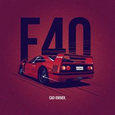 I really love this one! And it's another red artwork :) most of cars looks great in red. #ferrari #f40 #ferrarif40 #hypercar #supercar…