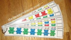 Pattern Strips - could make your own for the manipulatives you have available.