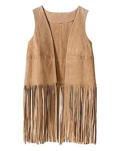 Simply Be Suede Fringe Waistcoat | Simply Be