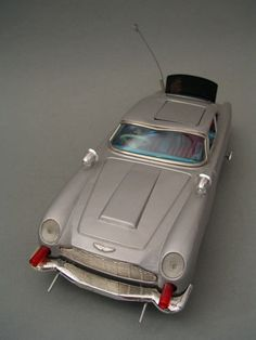 Made in Japan Aston Martin James Bond 007 Vintage Battery Tin Toy Car 1960'S | eBay