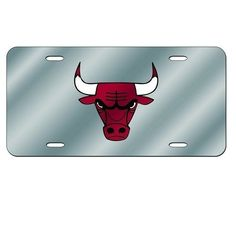 Chicago Bulls Mirror License Plate Laser Tag