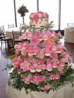 Pink White Cupcakes Wedding Cakes Photos & Pictures - WeddingWire.com