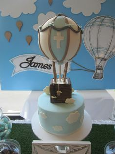 Little Big Company | The Blog: Hot Air Balloon Christening Styled by Cakes by Joanne Charmand