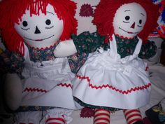 Dolls handmade by mother, Arbutus Bakley, Gatlinburg, Tennessee