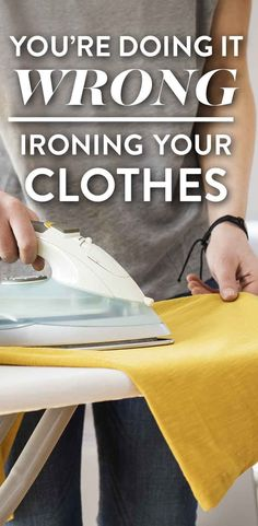 You're Doing It Wrong: Ironing Your Clothes Bullet Journal Cleaning, Shower Tips, Youre Doing It Wrong, Folding Laundry, Flylady, Master Bedroom Closet, How To Iron Clothes, Laundry Room Storage, Iron Art