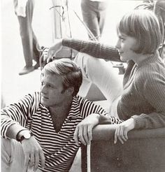 Robert Redford and Natalie Wood on the set of 'Inside Daisy Clover'  1965