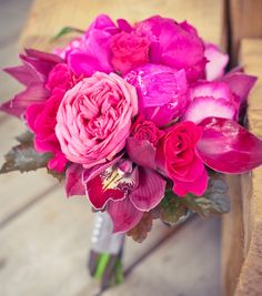 hot pink bouquet. <3