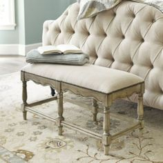 Something similar for end of the bed?    Marlow Bench | Ballard Designs