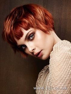 2016 Copper with blonde highlights choppy box bob with blunt piecy fringe - Hairstyles Short Hair With Bangs, Hairstyles With Bangs, Short Hair Cuts, Short Hair Styles, Plait Styles, Anime Hairstyles, Stylish Hairstyles, Hairstyles Videos, Blonde Hairstyles