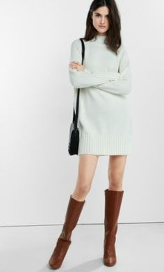 mock neck sweaterdress from EXPRESS