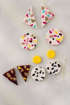 ON TREND: DIY Terrazzo earrings