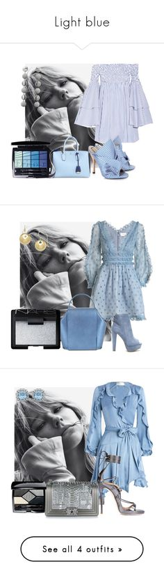 """Light blue"" by sofiacalo ❤ liked on Polyvore featuring Caroline Constas, N°21, Rebecca de Ravenel, MCM, Christian Dior, Zimmermann, NARS Cosmetics, Dsquared2, Chanel and Altuzarra"