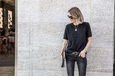 anine bing denim fuzzy knit gold oxfords westwood clutch sunglasses