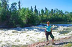 Me beside the Churchill River in Saskatchewan