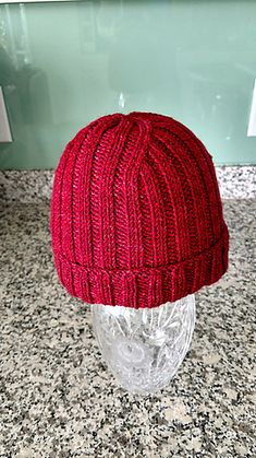 This pattern is a basic knit 2 stitches, purl 2 stitches. If you are comfortable knitting in the round and want to knit a cool beanie, this pattern is for you.