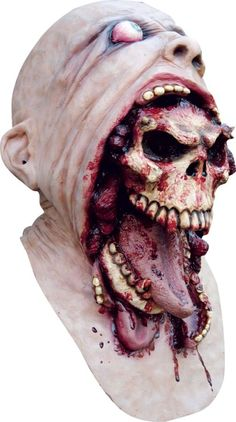 Clown Scary Mask Melting Face Latex Costume Halloween Holiday Bloody Zombie