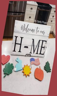 """Wood Signs are inscribable products in Creativerse. These pieces of """"furnishings"""" are fire-resistant wood flat sign boards on a wooden post that will ... Diy Home Crafts, Diy Craft Projects, Wood Crafts, Easy Crafts, Diy Home Decor, Easy Diy, Craft Ideas, Decor Ideas, Pallet Crafts"""