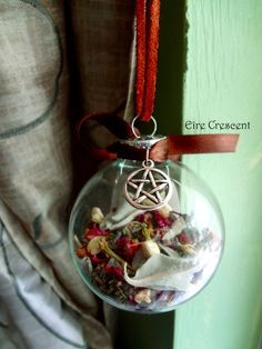 This is a beautiful idea - Home Blessing Glass Witch ball by EireCrescent